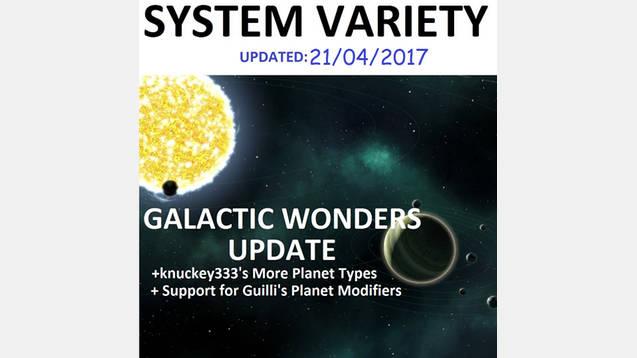System Variety – Galactic Wonders+Habitability 2017 Mod